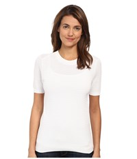 Marc By Marc Jacobs Compact Cotton Short Sleeve Sweater White