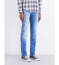 7 For All Mankind Ronnie Weightless Skinny Slim Fit Jeans Light Blue