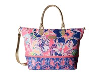 Lilly Pulitzer Expandable Weekender Travel Tote Tiki Pink Tipping Point Tote Handbags Multi