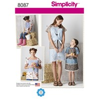 Simplicity Women's And Child's Tunic Sewing Pattern 8087 A