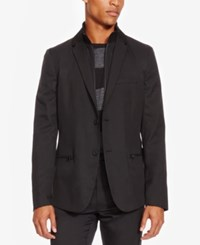 Kenneth Cole Reaction Men's Layered Look Blazer Black Combo