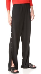 Tibi Pull On Side Snap Pants Black