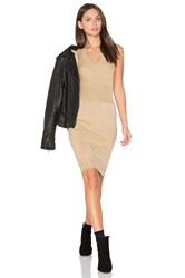 Atm Anthony Thomas Melillo Sleeveless Sweater Tank Dress Beige