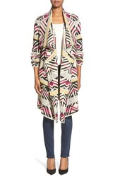 Women's Lucky Brand Geometric Long Cardigan