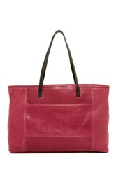 L.A.M.B. Halena Leather Tote Red