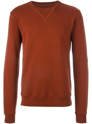 Maison Martin Margiela Elbow Patch Sweatshirt Yellow And Orange
