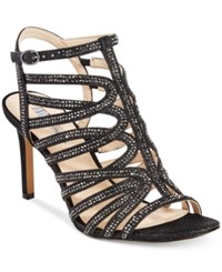 Inc International Concepts Gawdie Caged Sandals Only At Macy's Women's Shoes Black