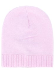 Laneus Ribbed Beanie Pink And Purple