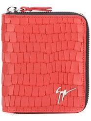 Giuseppe Zanotti Design Crocodile Skin Effect Wallet Red