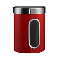 Wesco Kitchen Storage Canister With Window Red
