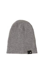 Htc Hollywood Trading Company Distressed Wool Blend Beanie Hat