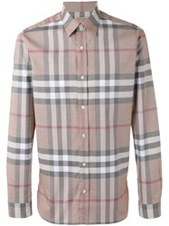 Burberry Checked Shirt Nude Neutrals