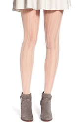 Chelsea 28 Women's Chelsea28 'Vertical Scallop' Tights Blush
