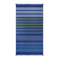 Amara Striped Beach Towel Blue