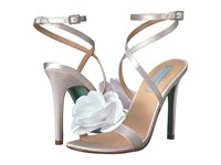 Blue By Betsey Johnson Terra Ivory Satin Shoes Bone