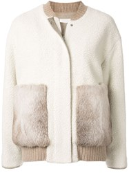 Kuho Fur Pocket Jacket White