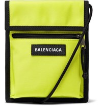 Balenciaga Explorer Canvas Messenger Bag Yellow