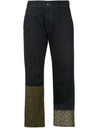 Mr And Mrs Italy Lace Trimmed Jeans 60