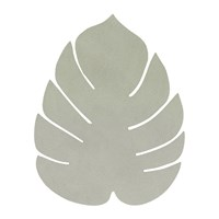Lind Dna Monstera Leaf Drinks Coaster Olive Green