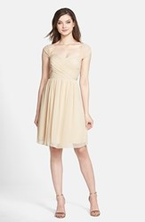 Women's Jenny Yoo 'Riley' Convertible Chiffon Dress Beige