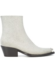 Calvin Klein 205W39nyc Silver Tipped Ankle Boot Grey