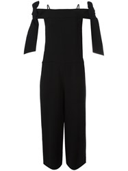 Tibi Relaxed Fit Jumpsuit Black