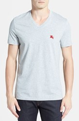 Men's Burberry Brit 'Lindon' V Neck Cotton T Shirt