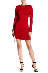 Rachel Pally Side Ruched Dress Red