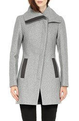 Soia And Kyo Women's 'Jana' Asymmetrical Wool Blend Coat