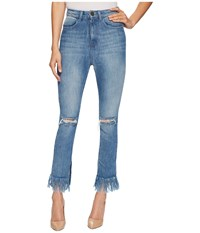 Show Me Your Mumu Brooklyn High Waisted Pants In Harbor Harbor Jeans Blue