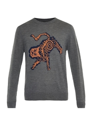 Paul Smith Ps Animal Intarsia Wool Sweater