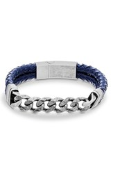 Garmin Men's Steve Madden Chain Link And Braided Leather Bracelet