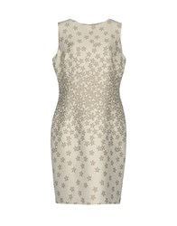 Cinzia Rocca Dresses Knee Length Dresses Light Grey
