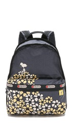 Le Sport Sac Peanuts X Lesportsac Basic Backpack Field Of Daisies