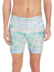 Robinson Les Bains Cambridge Printed Swim Shorts Blue Multi