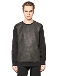 Giorgio Brato Nubuck And Cotton Blend Sweatshirt