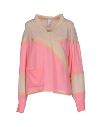 Uniqueness Shirts Blouses Women Pink