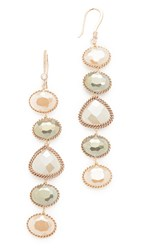 Theia Jewelry Five Tier Earrings Gold Sapphire Clear
