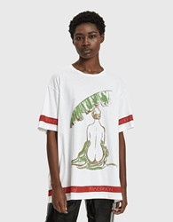 J.W.Anderson Palm Lady Oversized Tee White