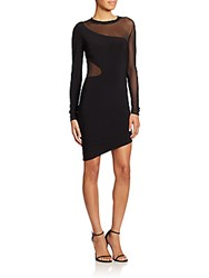 Elizabeth And James Ziomara Mesh Cutout Dress Black