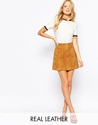 Monki A Line 70'S Suede Skirt