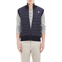 Sweater Back Down Vest Navy