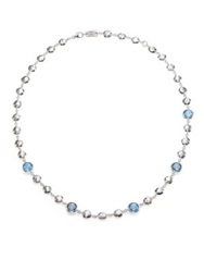 Ippolita Rock Candy London Blue Topaz And Sterling Silver Beaded Necklace Silver Topaz