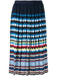 Mary Katrantzou Aura Pleated Skirt Women Viscose Xs Blue