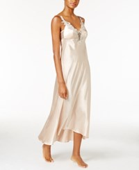 Flora Nikrooz By Stella Satin Venise Trim Nightgown Almond