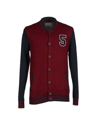 Selected Homme Cardigans Maroon