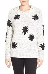 Women's Vince Camuto Chenille Embroidered Mock Neck Sweater