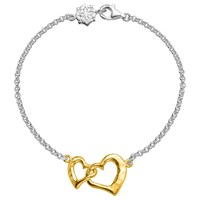 Dower And Hall Entwined Love Hearts Bracelet Silver Gold