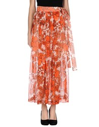 Msgm Skirts Long Skirts Women Orange