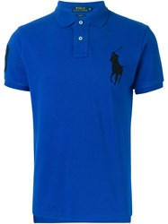 Polo Ralph Lauren Embroidered Logo Short Sleeved Polo Shirt Blue